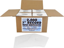 """(2000) 07IW 7"""" White Paper Record Inner Sleeves ACID FREE 45 RPM ARCHIVAL Covers"""