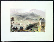 1842 William Bartlett Antique Print View of the Eastern Townships Quebec, Canada