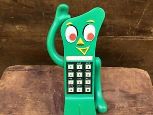 HTF Collectible Vintage 1985 Gumby Push Button Perma ToyTelephone