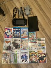 Nintendo Wii U Console System With 14 Games! Mario Kart & More! Great Set Tested