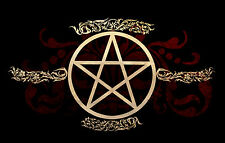 Framed Print - Wiccan Pentagram (Picture Poster Wicca Nature Magic Witch Wizard)