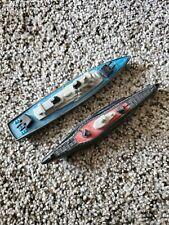 Vintage Tootsie-toy Destroyer and Submarine on Wheels