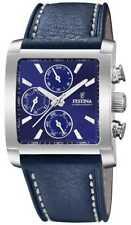 Festina | Heren Roestvrij Stalen Chronograaf Blauwe F20424/2 Horloge