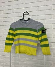 Authentic Kids Boy's Stone Island Junior Sweater Jumper Size 4Y 104cm V-Neck