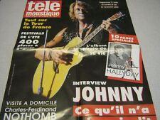 JOHNNY HALLYDAY AFFICHE PROMO TELEMOUSTIQUE 3674