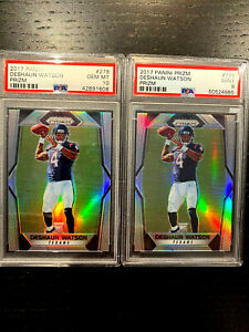 2017 DESHAUN WATSON RC PRIZM SILVER ROOKIE PSA 10 & PSA 9  #279   LOT OF 2