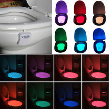 LED Bathroom Toilet  Nightlight Human Body Sensitive Motion Activated Night Lamp