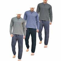 Mens Ex Store 100% Cotton Pyjamas Long Sleeve Top Trousers PJ Nightwear Lounge