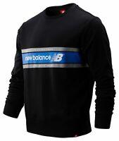 New Balance Men's NB Athletics Archive Crew Black with Blue Size 2XL