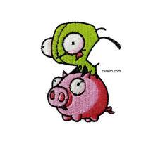 Nickelodeon Invader Zim Pig Piggy Cartoon Vintage Retro Iron on Patch Applique