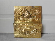 1950s French brass wall LETTER MAIL RACK