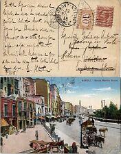 REGNO-Cartolina 10c(82) Napoli->Tronzano->Milano(Fermo posta) tax 10c(SS21) 1915