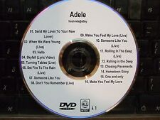 ADELE THE COMPLETE MUSIC VIDEO DVD COLLECTION SEND MY LOVE (TO YOUR NEW LOVER)