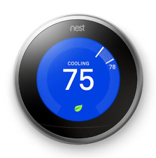 NEW Google Nest Smart Learning Thermostat (3rd Generation) - Stainless Steel