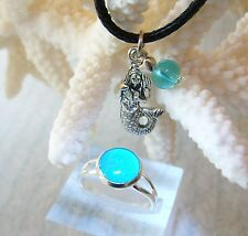 H20 Just Add Water Mako Mermaids Moon Pool Glow Style Ring Mermaid Necklace H2O