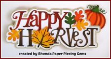 Fall Happy Harvest boy girl title paper piecing Premade Scrapbook Page by Rhonda