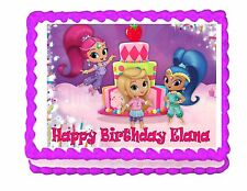 Shimmer and Shine with Leah edible party cake topper decoration frosting sheet