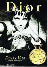 PUBLICITE ADVERTISING 126  2000   Dior  parfum Dolce Vita femme D.Issermann