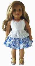 """For 18"""" American Girl Summer Blouse Skirt Sandals Doll Clothes"""