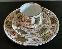 Antique Elizabethan Cup Saucer Trio ~ Fine Bone China ~ England 3018