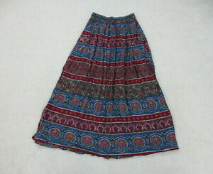 Abercrombie & Fitch Skirt Womans Large Red Blue Floral Preppy Ladies