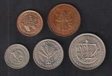 CYPRUS 1955 COMPLETE SET 3, 5, 25, 50 and 100 mils Uncirculated &Circulated COIN