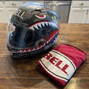 Bell 2017 Vortex Flying Tiger Full Face Helmet Large L - Motorcycle Motorsports