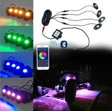 4PCS Multi Color Led Rock Lights Under Body Lights for Jeep Trucks ATV SUV