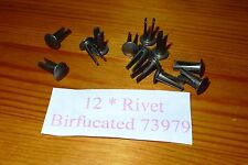 3/16 Bifurcated Rivets 73979 x12 for Landrover Body mounting pads & Bonnet Strip