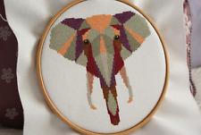 Geometric Elephant  - Low Poly Geometric Art - Cross Stitch Kit