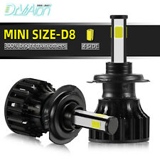 Pair 4-sides H7 LED Headlight bulb 2400W 6500K 360000LM Replacement Bulb CN