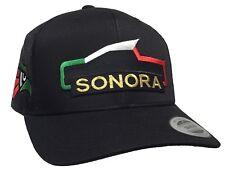 SONORA TROCA 2 LOGOS AGUILA  3 COLOR A LADO DERECHO HAT BLACK MESH