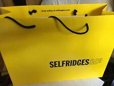 Selfridges Large Yellow Shopping/Gift Carrier  Bag size 42x30x15cm