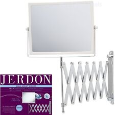 Extendable 2 Sided Makeup Mirror Wall Arm Shaving Swivel Magnifying Bathroom NEW