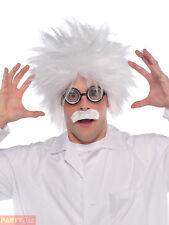 Adults Mad Scientist Kit Halloween Einstein Fancy Dress Costume Accessory Set