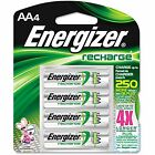 4/pack AA Energizer Rechargeable NiMH Batteries EXP 2021 AA4 Recharge 2300mAh