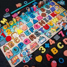 Wooden Kids Montessori Preschool Educational Learning Building blocks Busy Board