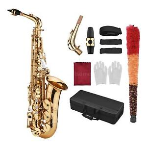Saxophone Sax Eb Be Alto E Flat Brass Carved Pattern