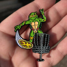 Disc Golf - NEW metal Festi Daze Bag, hat, lapel pin - TMNT Disc Golf