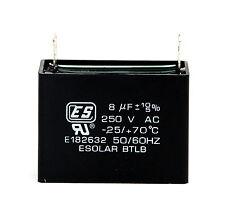 2pc AC Start Capacitor 8uF 250VAC +10/-5% -25/+70℃ ES Esolar UL Taiwan *