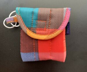 Baggu Puffy Earbuds Case Madras Colorful Recycled Nylon