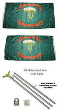 3x5 1st Irish Brigade Ireland 2ply Flag Galvanized Pole Kit Eagle Top 3'x5'