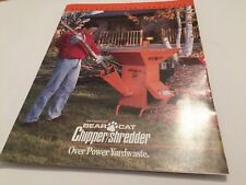 Bear Cat Chipper Shredder Crary Original 1980s Vintage Sales Brochure