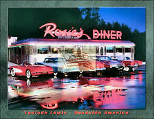 REPRINT PICTURE older drive in sign ROSIE'S DINER lewis roadside america 7x5 3/8