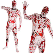 OVERKILL SKIN SUIT HALLOWEEN FANCY DRESS COSTUME BLOODY STAINED EFFECT GORY