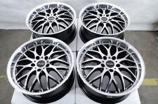 "17"" Wheels Bimmer BMW 128 135 228 230 318 320 323 325 328 340 Black Rims 5x120"