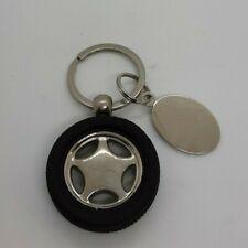 Personalised-Car-Keyring-Engraved-gift Car Wheel Key Chain Car Tyre 45mm