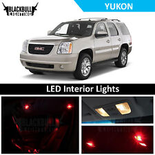 Red LED Interior Lights Package Accessories Kit fits 2007-2014 GMC Yukon 10 bulb