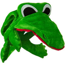 Alligator Crocodile Animal Plush Novelty Visor Hat GREEN