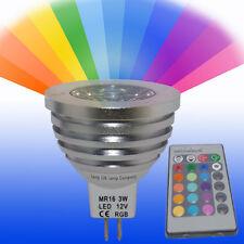 Mr16 Led Control Remoto Cambio De Color Bombilla 3w 16 Colores 12v Nuevo